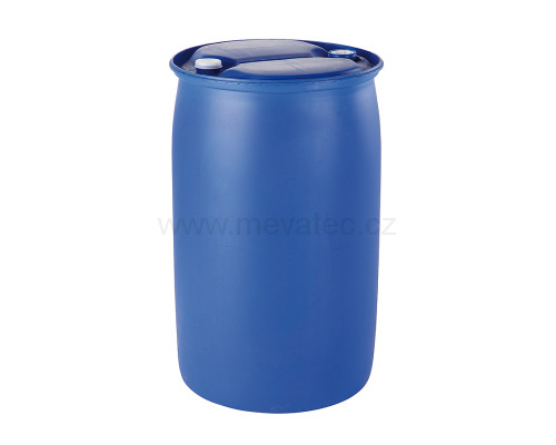 Plastic barrel 220 l. - with plug 2 and 3/4