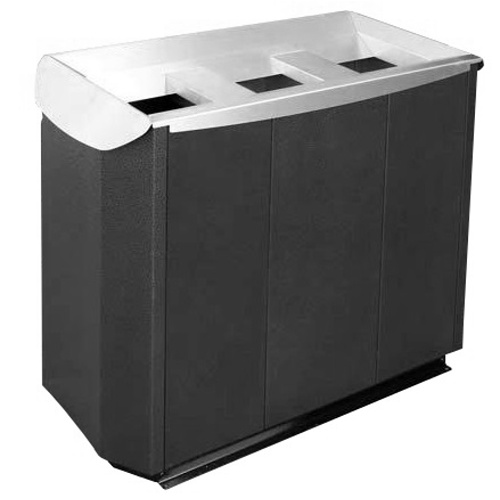 Litter bin TRIPLEX - varnished