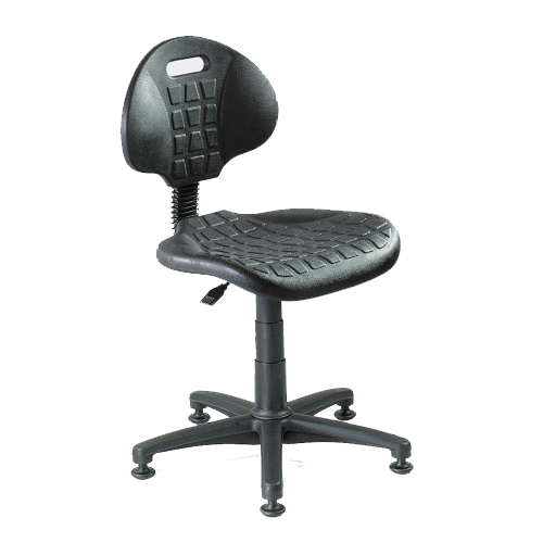 Work chair with sliders