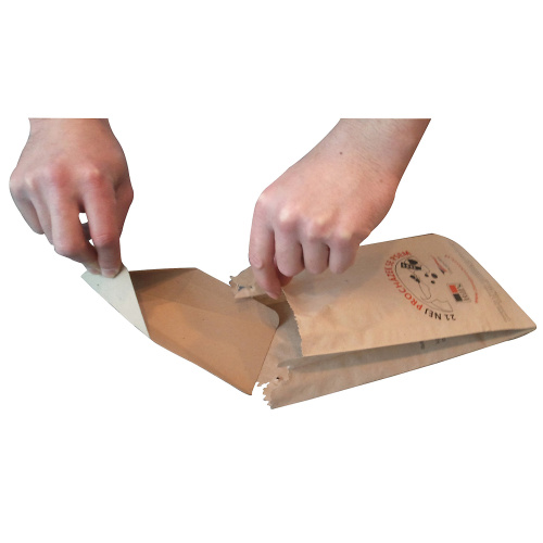 Paper bag for dogs exkrements