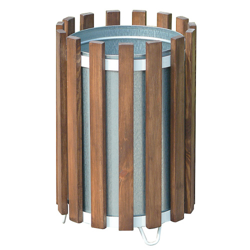 Wooden bin - spherical