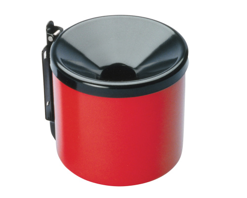 Wall mounted ashtray-red/black