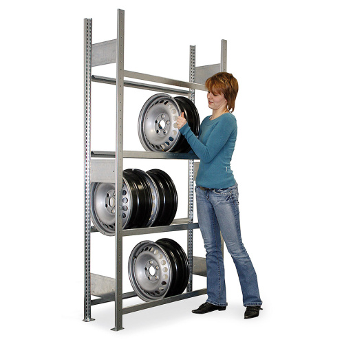 Rack shelf for wheel discs - basic panel