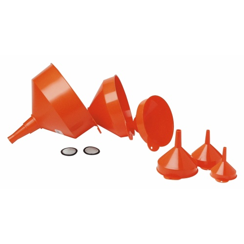 Plastic funnel set - 6 pc.
