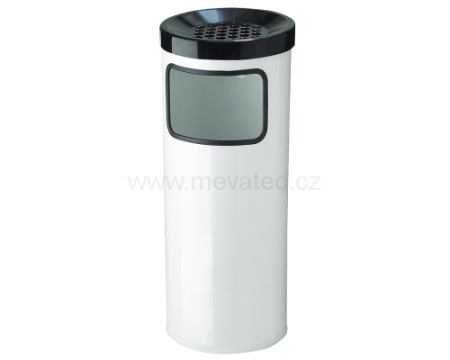 Luxus waste bin with an ashtray 30 l. - white