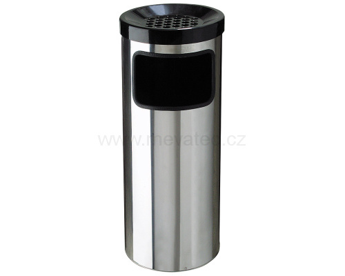 Waste bin with an ashtray - stainless