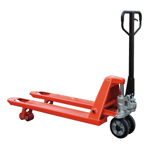 Pallet truck with rubber wheels - 2500 kg