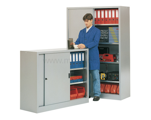 Work cabinet - 1/2 slidining door
