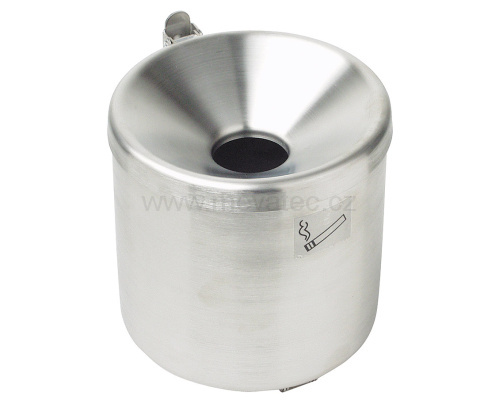 Wall mounted ashtray - stainless