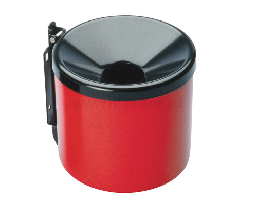 Wall mounted ashtray 90mm - red/black