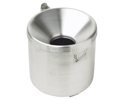 Wall mounted ashtray 90 mm - stainless