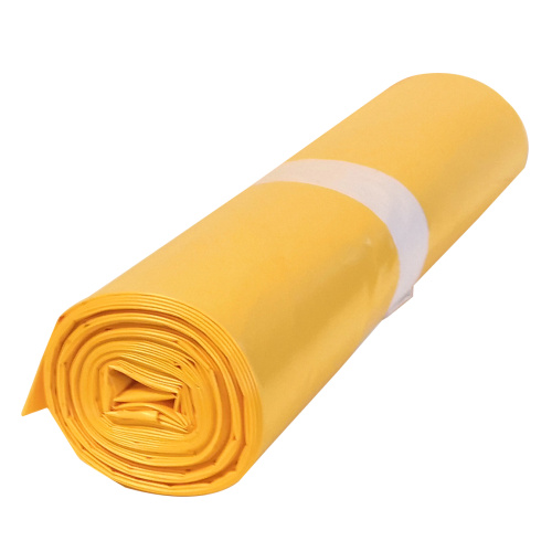 Polyethylene bag 70x110 - yellow, 80 mi