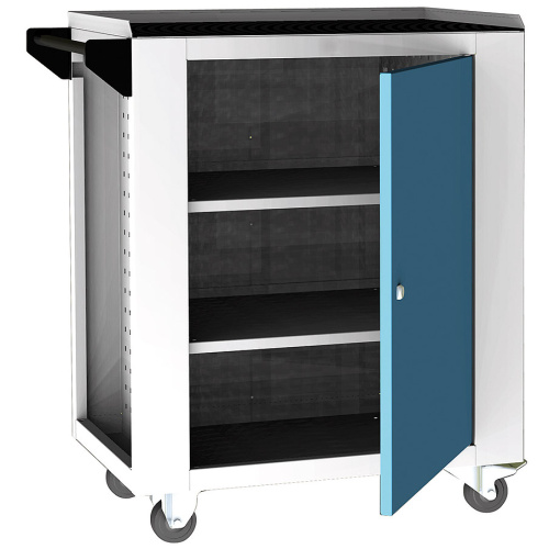 Service trolley - 2x shelf, door