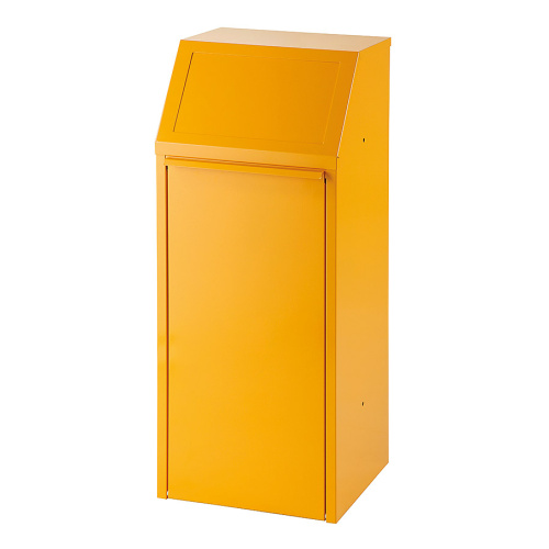 Tipping indoor bin 70l. - yellow