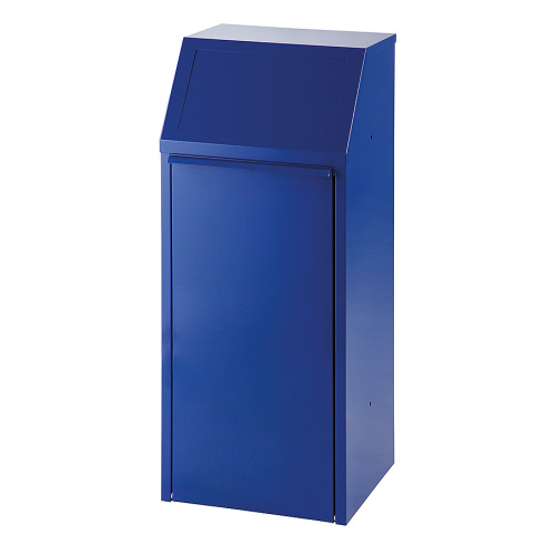 Tipping indoor bin 70l. - blue
