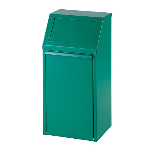 Tipping waste bin 40l. - green