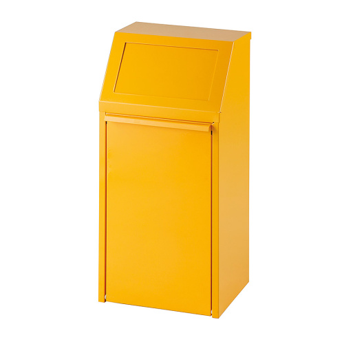 Tipping waste bin 40l. - yellow
