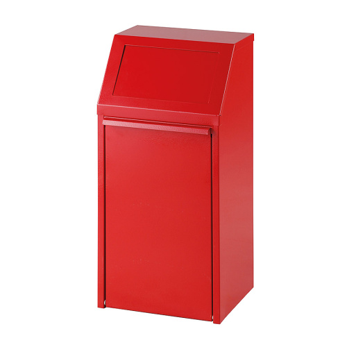 Tipping waste bin 40l. - red