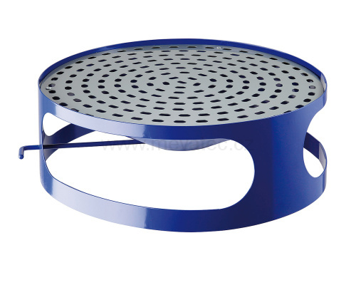 Lid for concrete bin wiht ashtray - blue