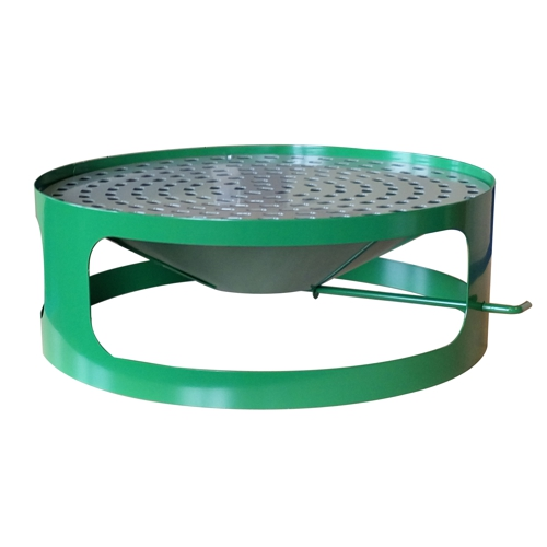 Lid for concrete bin with ashtray - green