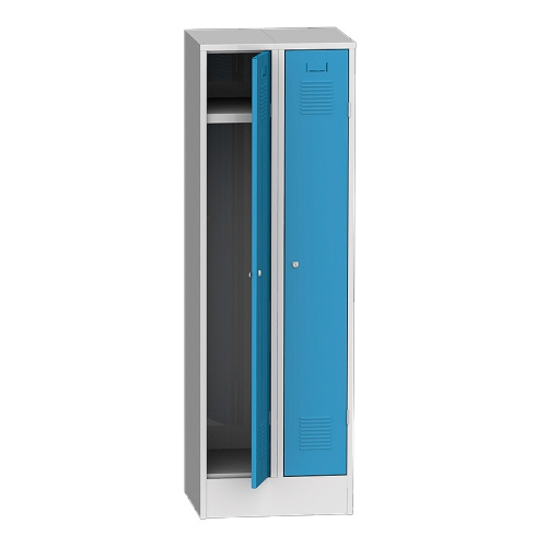 Wardrobe on a base 600 mm - grey/blue