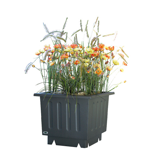 Steel outdoor flowerpot VIDA