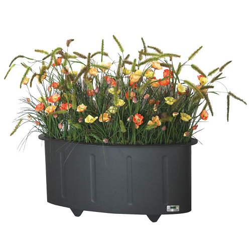 Steel outdoor flowerpot OVAL
