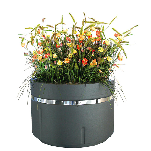 Steel outdoor flowerpot REDOLDA