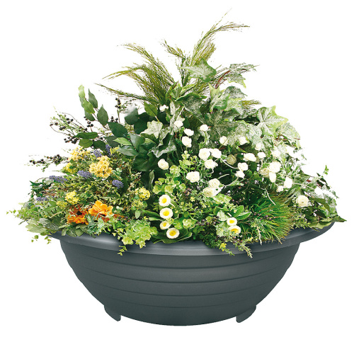Steel outdoor flowerpot ESFERICA