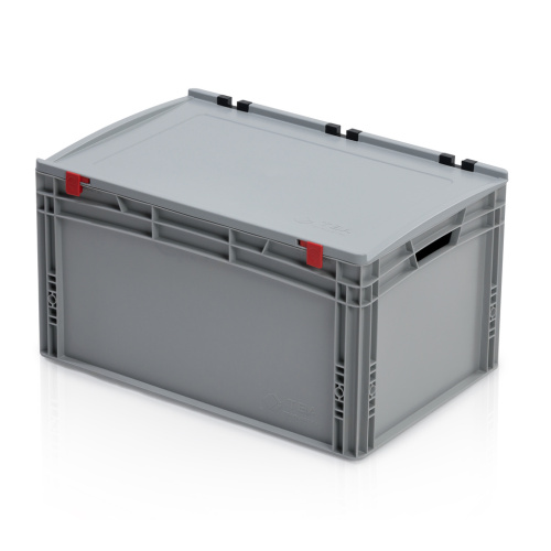 Plastic EURO box 600x400x335 mm with a lid
