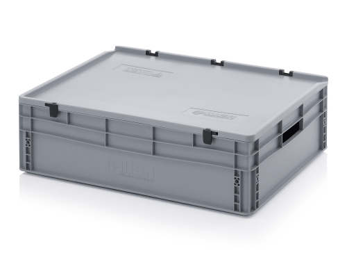 Plastic EURO box 800x600x220 mm with a lid