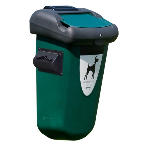 Bin for dog excreta RETRIEVER with storage tank - 35 l.
