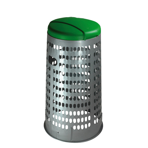 Plastic stand for bags - green lid