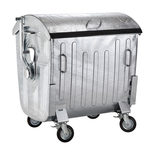 Hot-dip galvanized metal container 1100 litres