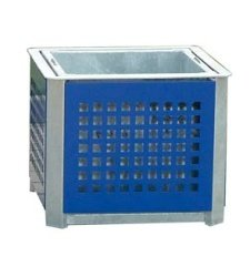 Container for plants with steel lining - square