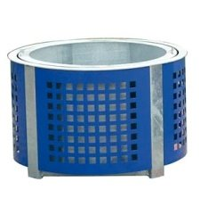 Container for plants with steel lining - circle