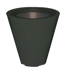 Plastic exterior pot Open S 600/300x600 mm