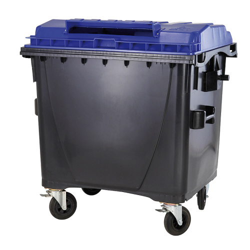 Plastic containers 1100 l. paper- without lock
