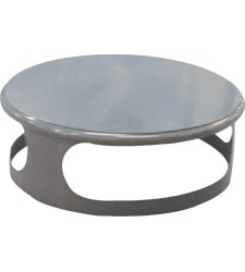 Lid for concrete bin - gray