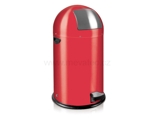 Waste bin with metal lining - red pedal