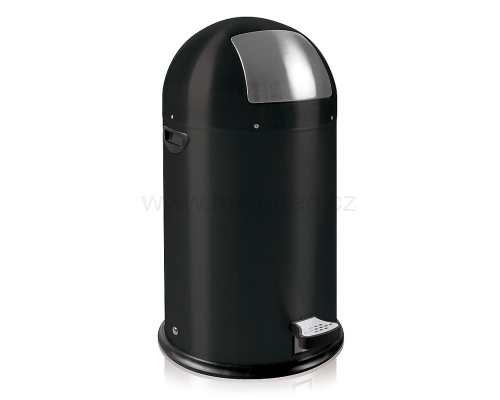 Waste bin with metal lining - black pedal