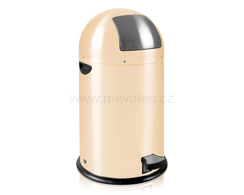 Waste bin with metal lining - beige pedal