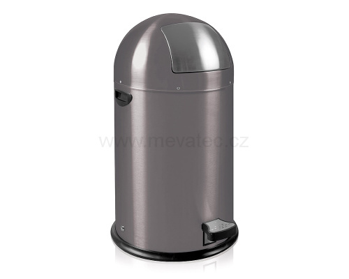 Waste bin with metal lining - grey pedal
