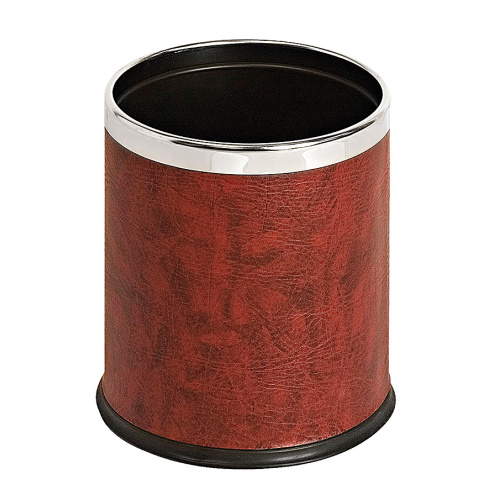 Waste bin with a frame - leather