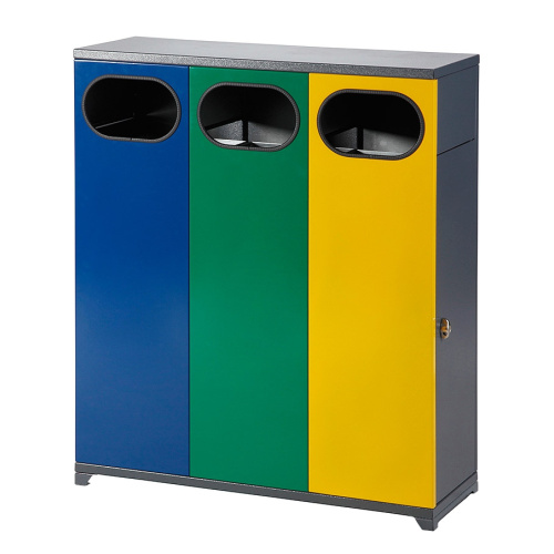 Outdoor bin for sorted waste