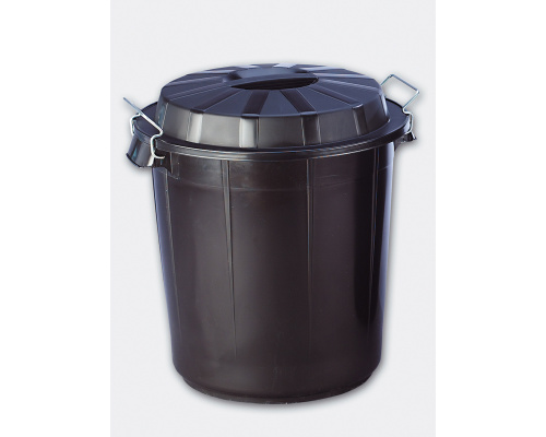 Plastic bin with a lid 50 l (455x505 mm)