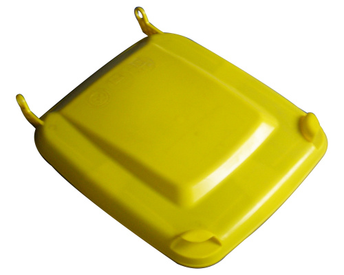 Lid for a plastic bin  240 lt. - plastic container - yellow