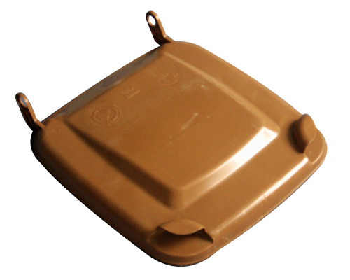 Lid for a plastic bin  240 lt. - plastic container - brown