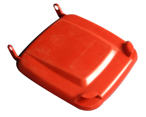 Lid for a plastic bin  240 lt. - plastic container - red
