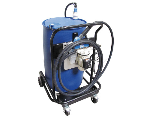 Mobile pumping system for Ad Blue for 200 l barrels